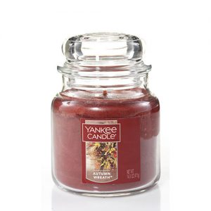 Autumn Wreath Medium Jar Candle
