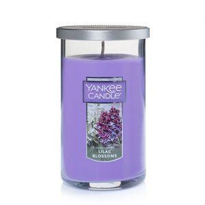 Lilac Blossoms Medium Perfect Pillar Candles