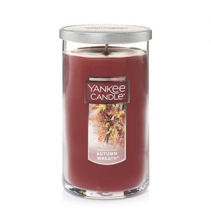 Autumn Wreath Medium Perfect Pillar Candle