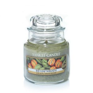Bay Leaf Wreath Small Jar Candles